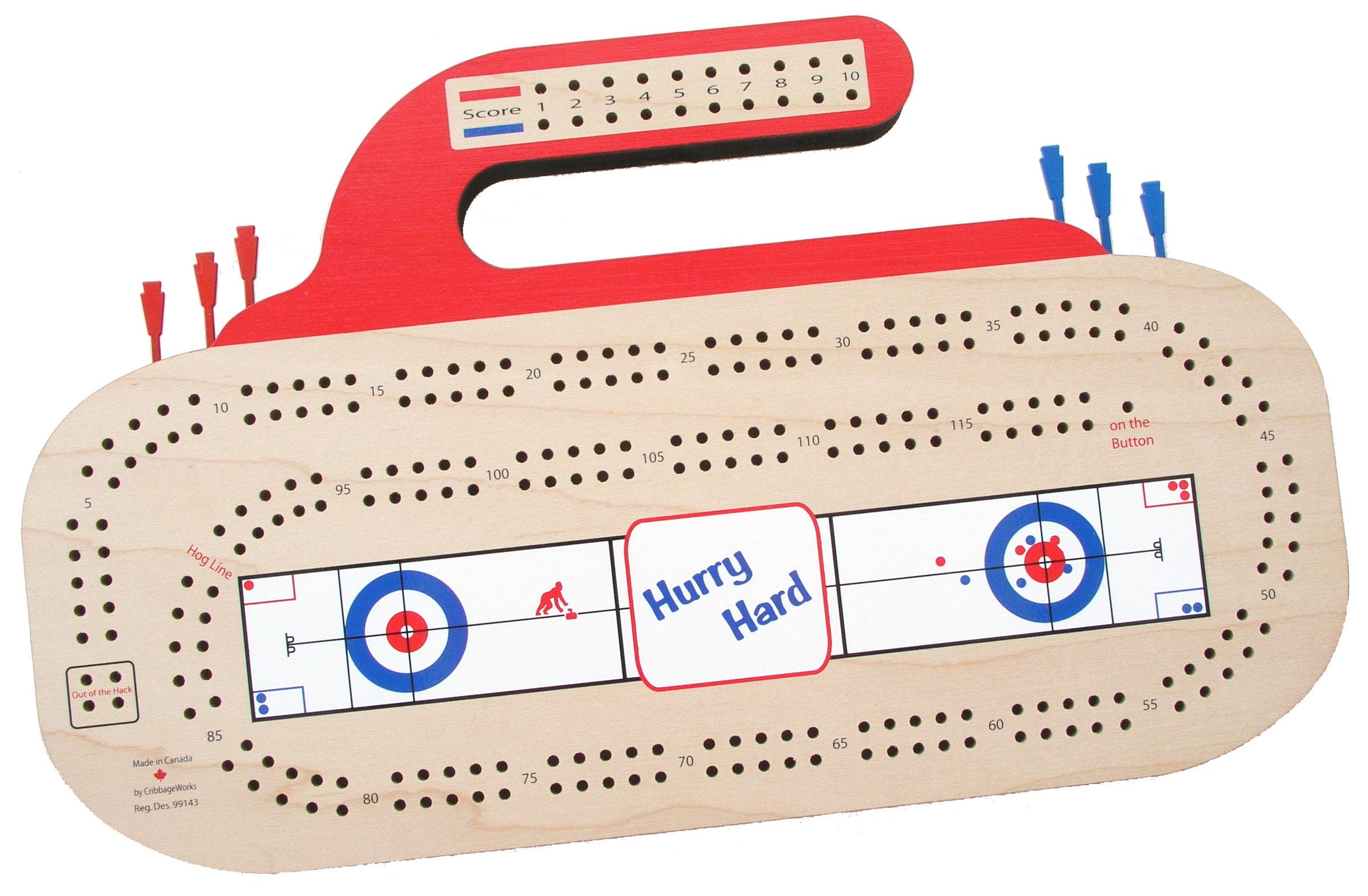 Curling Rock Crib Board Calgary S Curling Shop