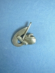 Pewter Rock and Broom Lapel Pin