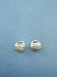 Pewter Curling Rock Stud Earrings