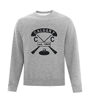Calgary Curling Club Full Vintage Crew Neck Sweatshirt