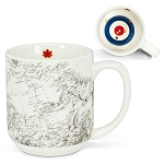 Canadian Map Curling Mug