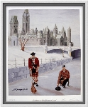 Curling On The Rideau Print by Bernie Sparks
