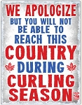 Metal Curling Country Sign