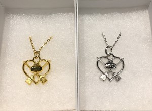 Rock & Broom Heart Necklace