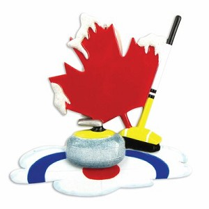 Maple Leaf Curling Christmas Ornament
