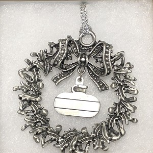 Curlers Corner Pewter Christmas Ornament