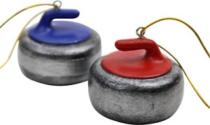 Curling Rock Ornament